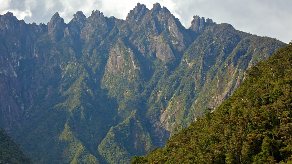 Kinabalu National Park showing mountains and landscape views