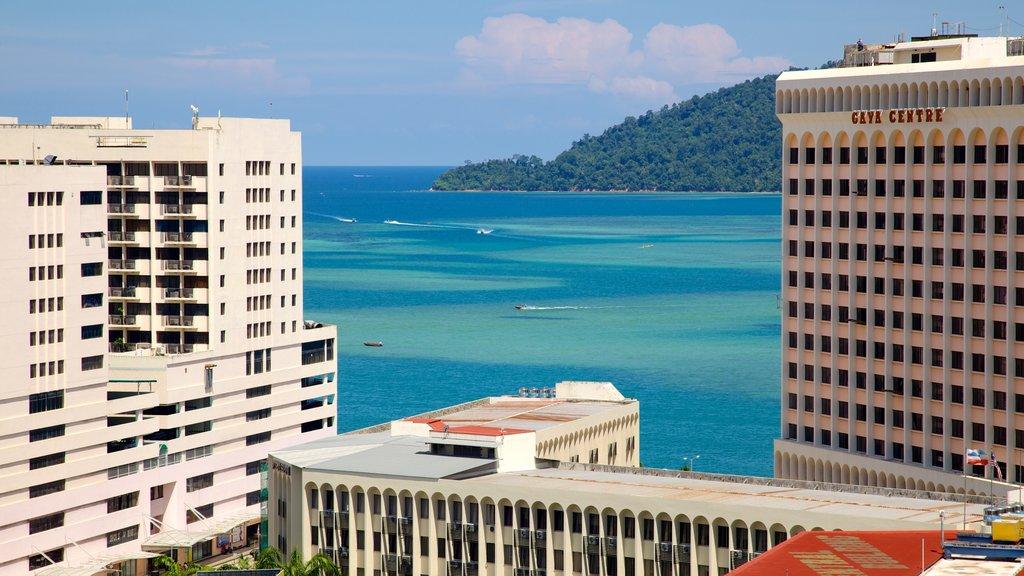 Kota Kinabalu featuring general coastal views, modern architecture and cbd