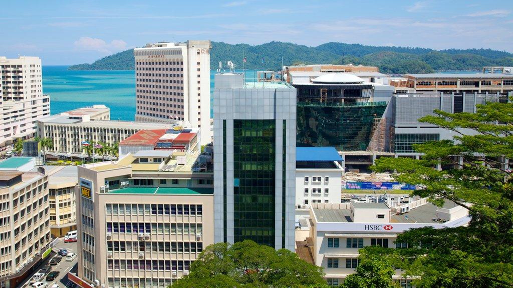 Kota Kinabalu showing a high rise building, general coastal views and a city