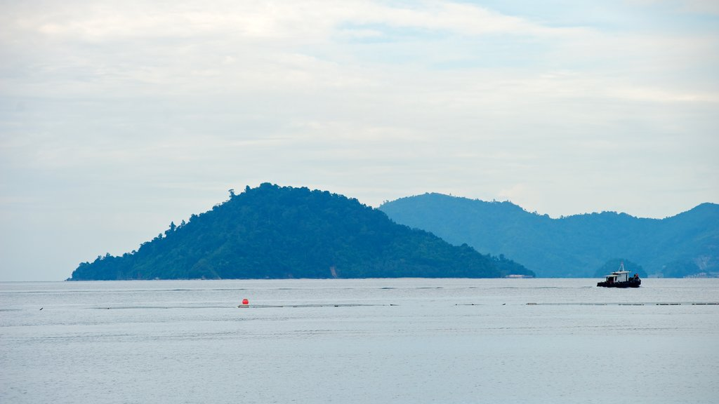 Kota Kinabalu which includes general coastal views, mountains and landscape views