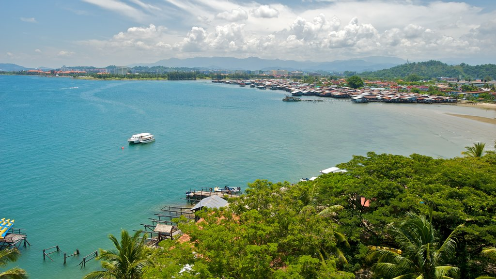 Kota Kinabalu which includes a small town or village, general coastal views and landscape views