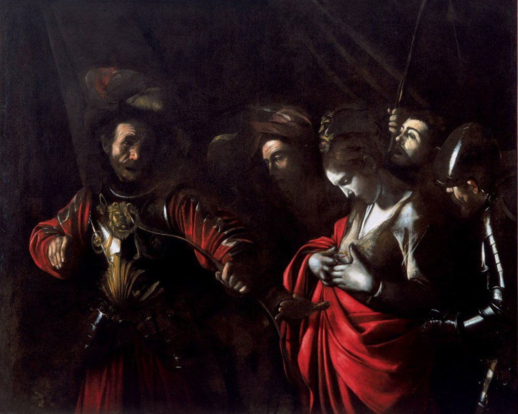 Il Martirio di Sant'Orsola opera di Caravaggio a Palazzo Zevallos.