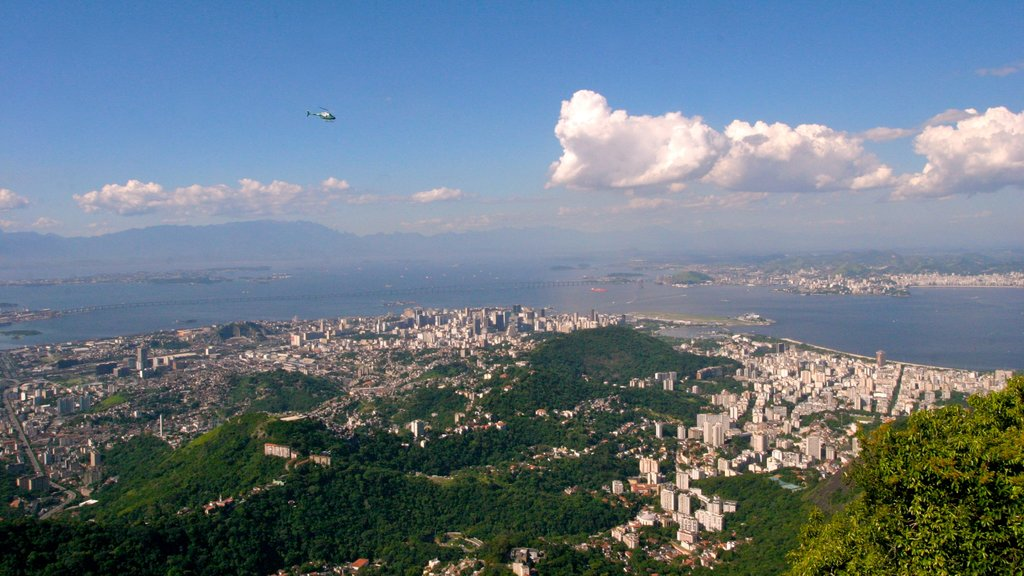 Corcovado which includes a city and an aircraft