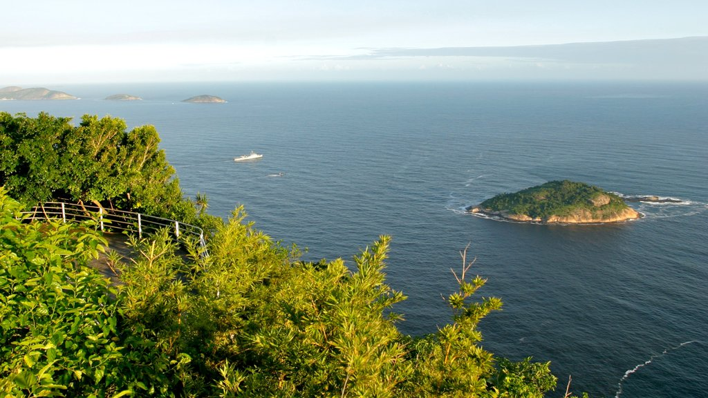 Sugar Loaf Mountain which includes island images and landscape views