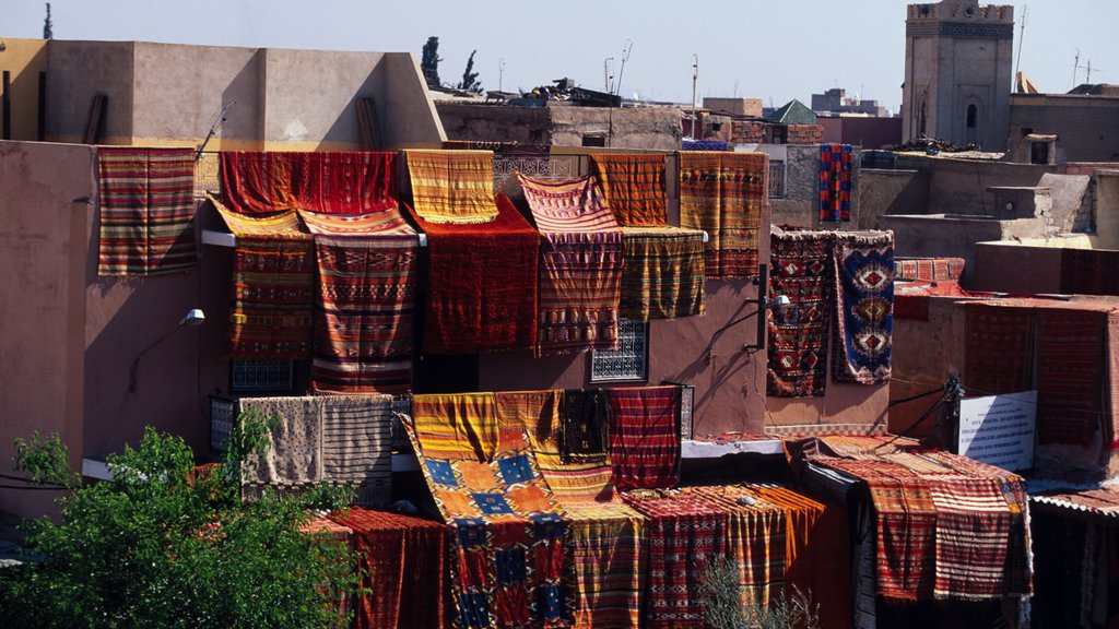 Marrakech which includes a city and heritage architecture