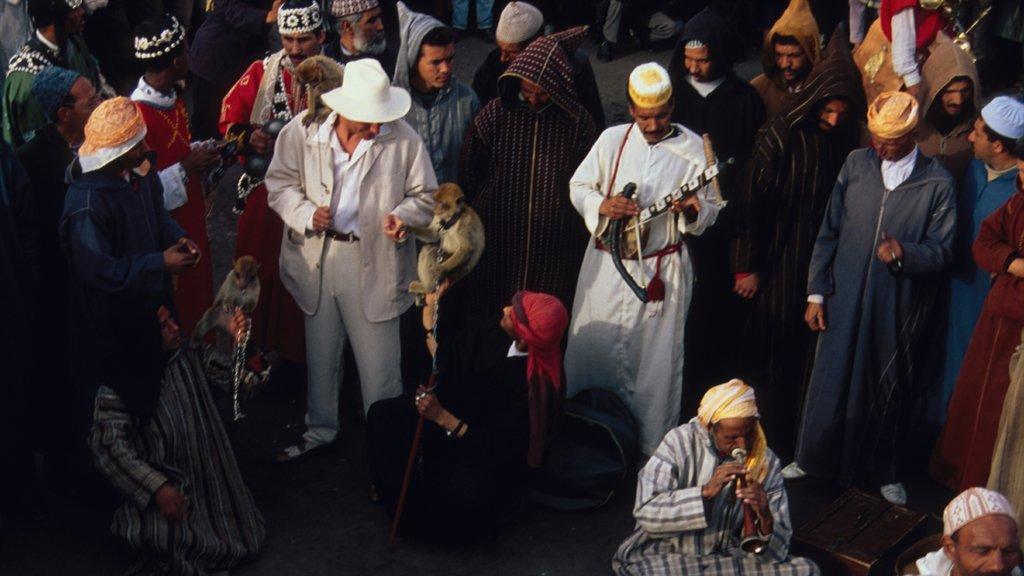 Marrakech as well as a large group of people