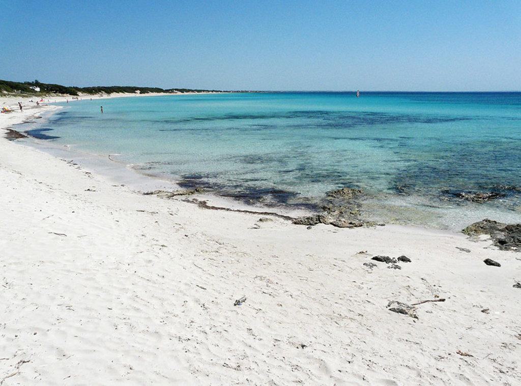 La spiaggia di Punta Prosciutto. Hydruntum, opera propria. Licenza = {{Self|Cc-by-sa-3.0}}.