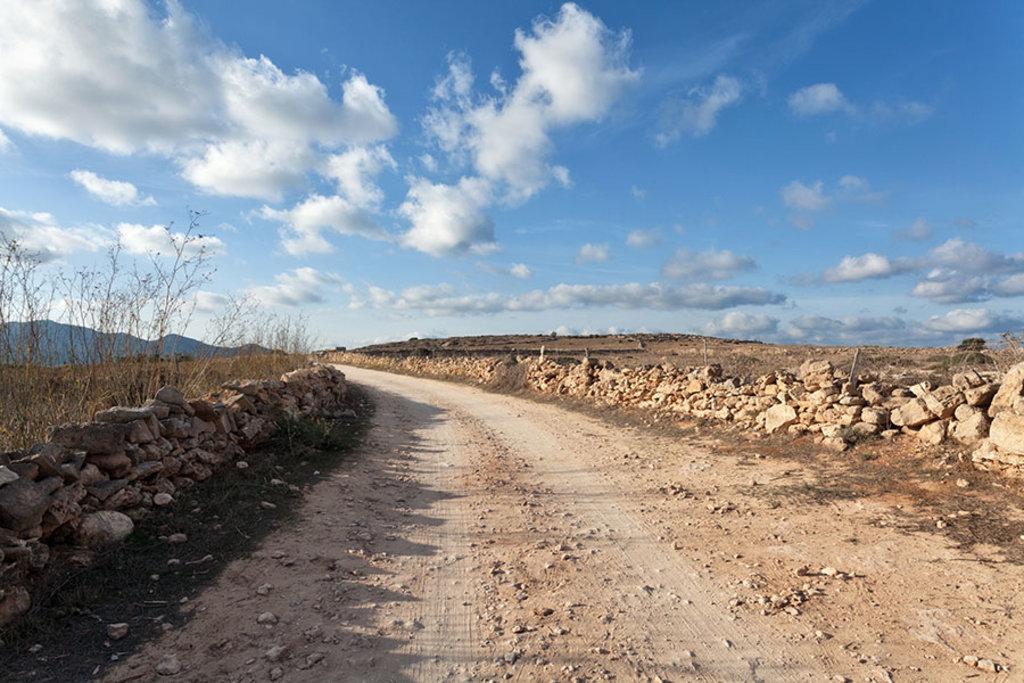 Le strade interne di Favignana.