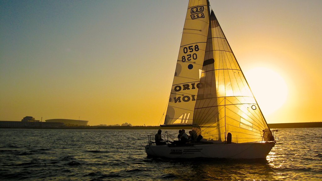 Victoria and Alfred Waterfront showing sailing, boating and general coastal views