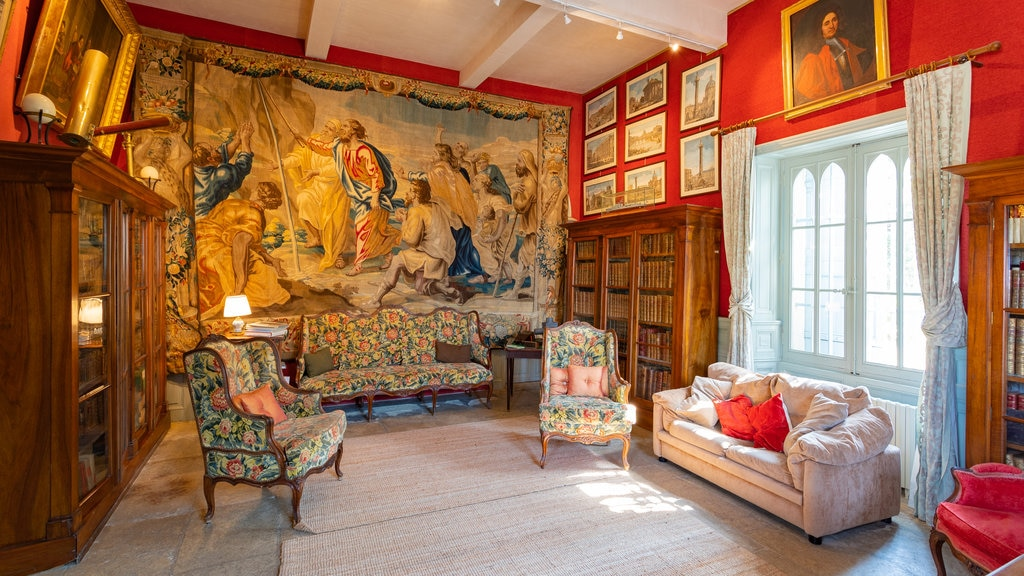 Chateau de Flaugergues featuring heritage elements, art and interior views