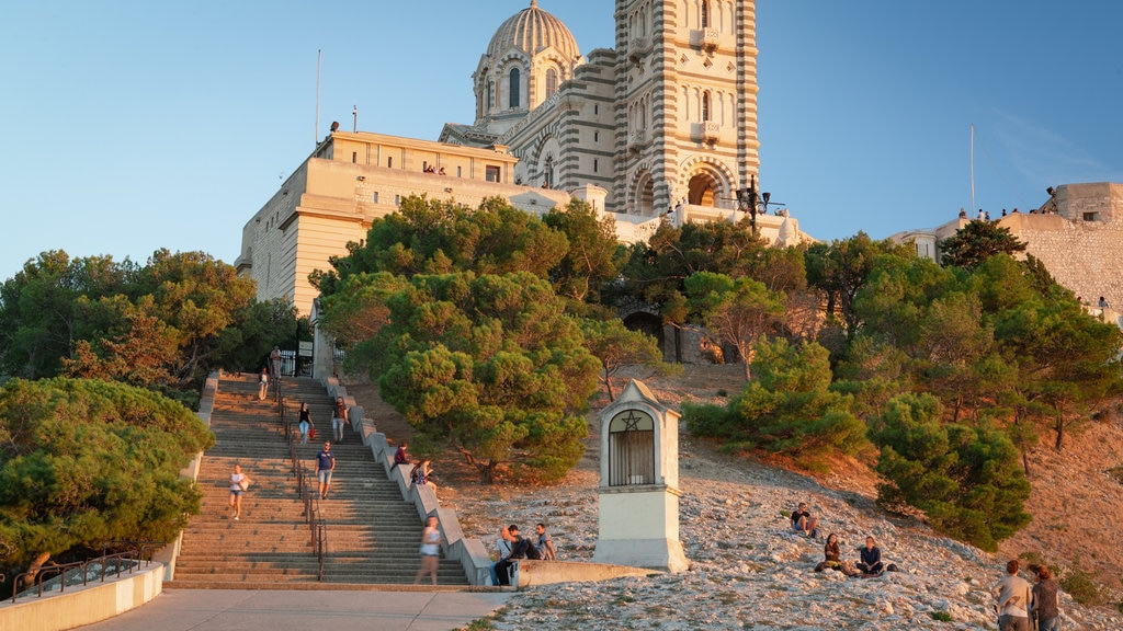 Notre-Dame de la Garde showing a church or cathedral and heritage architecture
