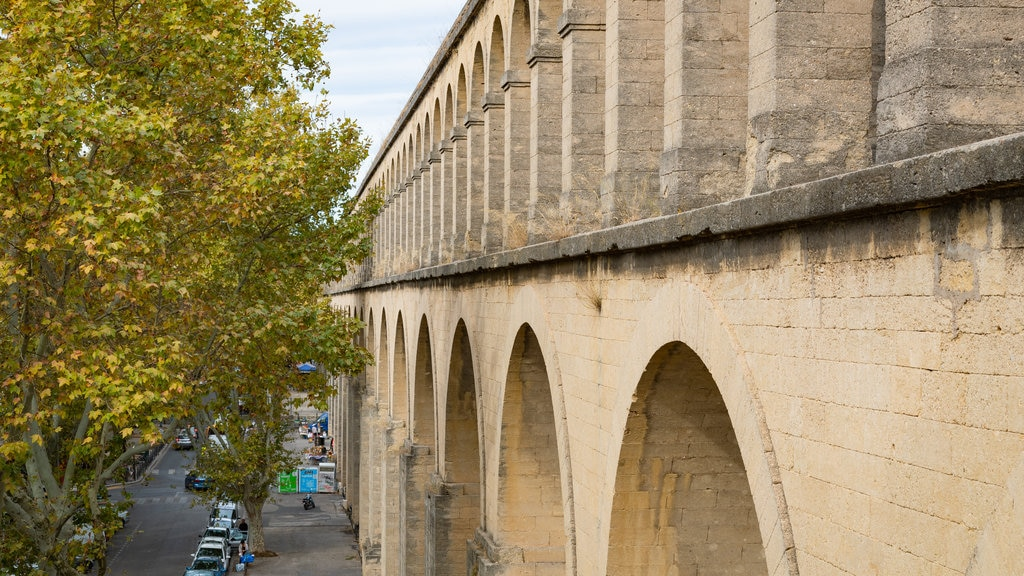 Montpellier Aqueduct featuring a bridge and heritage elements