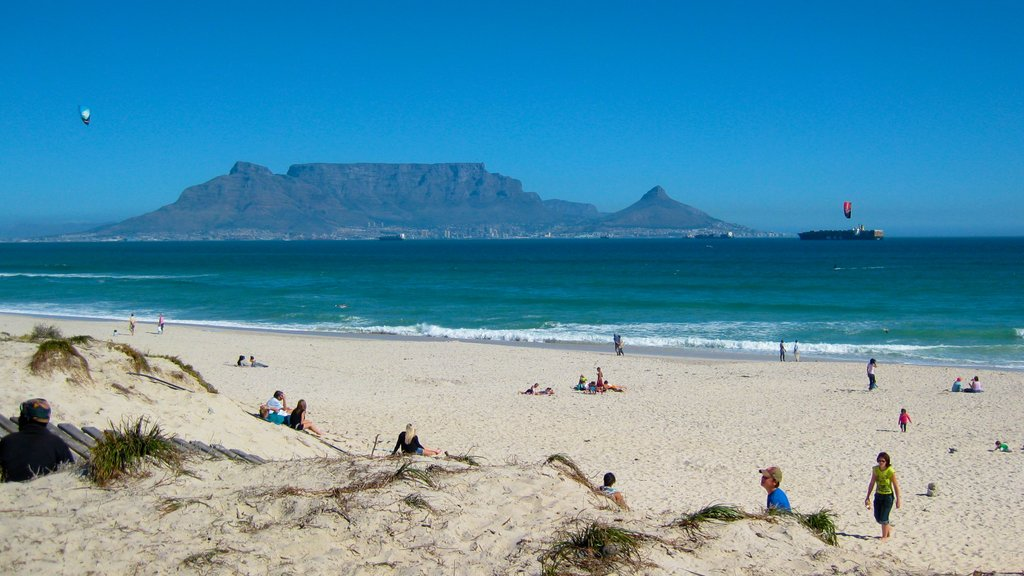 Table Mountain featuring a beach, landscape views and mountains