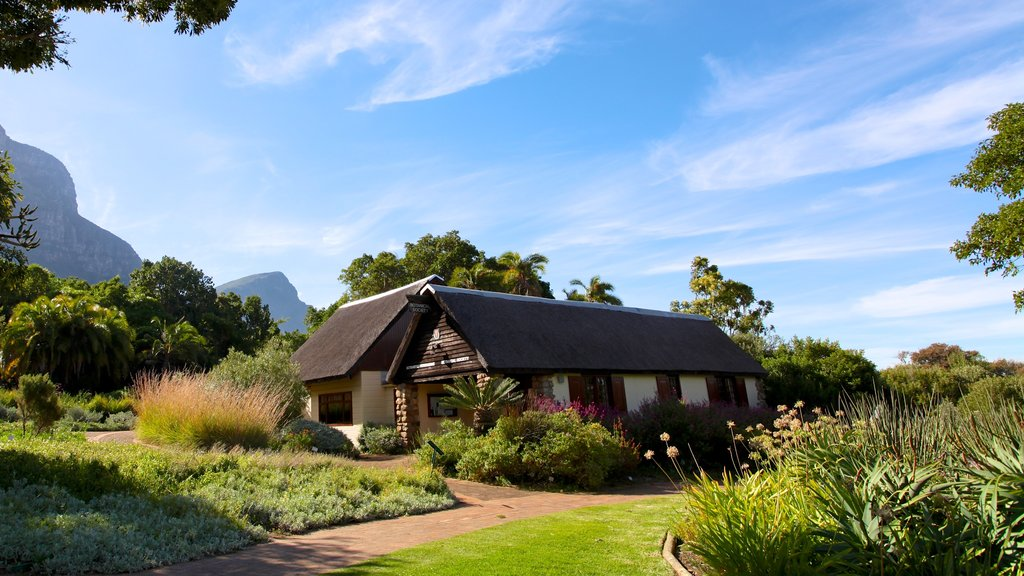 Kirstenbosch National Botanical Gardens which includes tranquil scenes, a park and a house