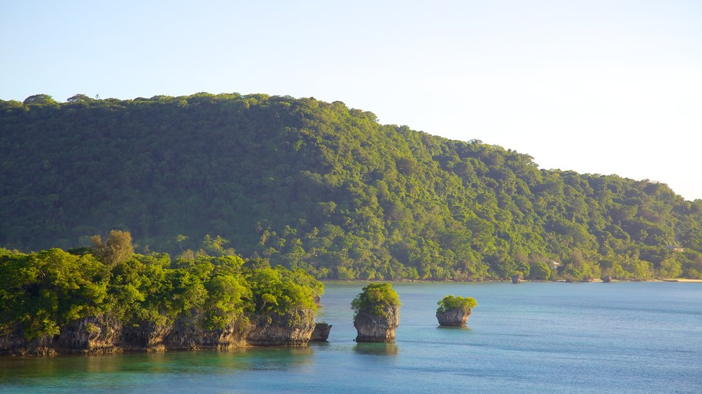 Port Vila which includes landscape views, general coastal views and forest scenes