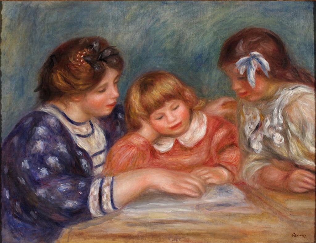 Pierre Auguste Renoir, La Lecon (Bielle, l