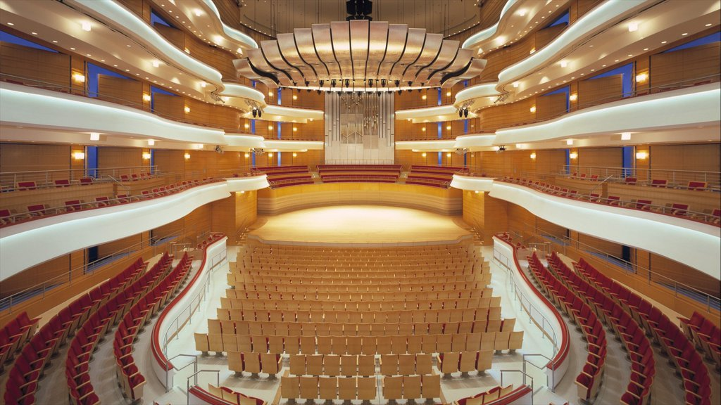 Segerstrom Center for the Arts showing interior views and art
