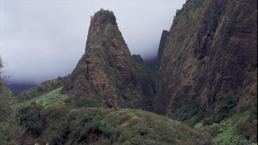 Wailuku which includes mountains, mist or fog and landscape views