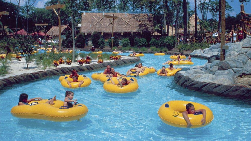 Gurnee que incluye paseos y un parque acuático y también niños