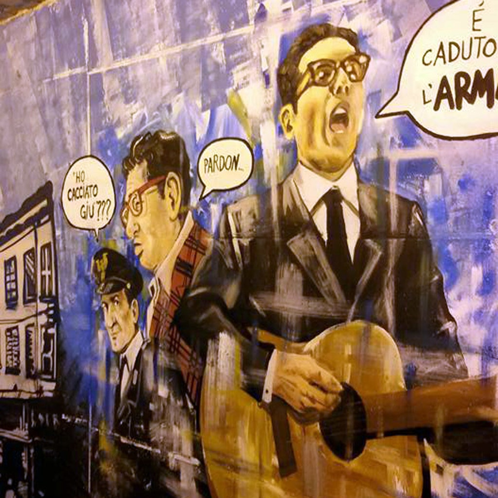 Murales di Alberto Locatelli nel tunnel pedonale di via Orwell - Courtesy of Alberto Locatelli. http://www.facebook.com/albertolocatelliartbook