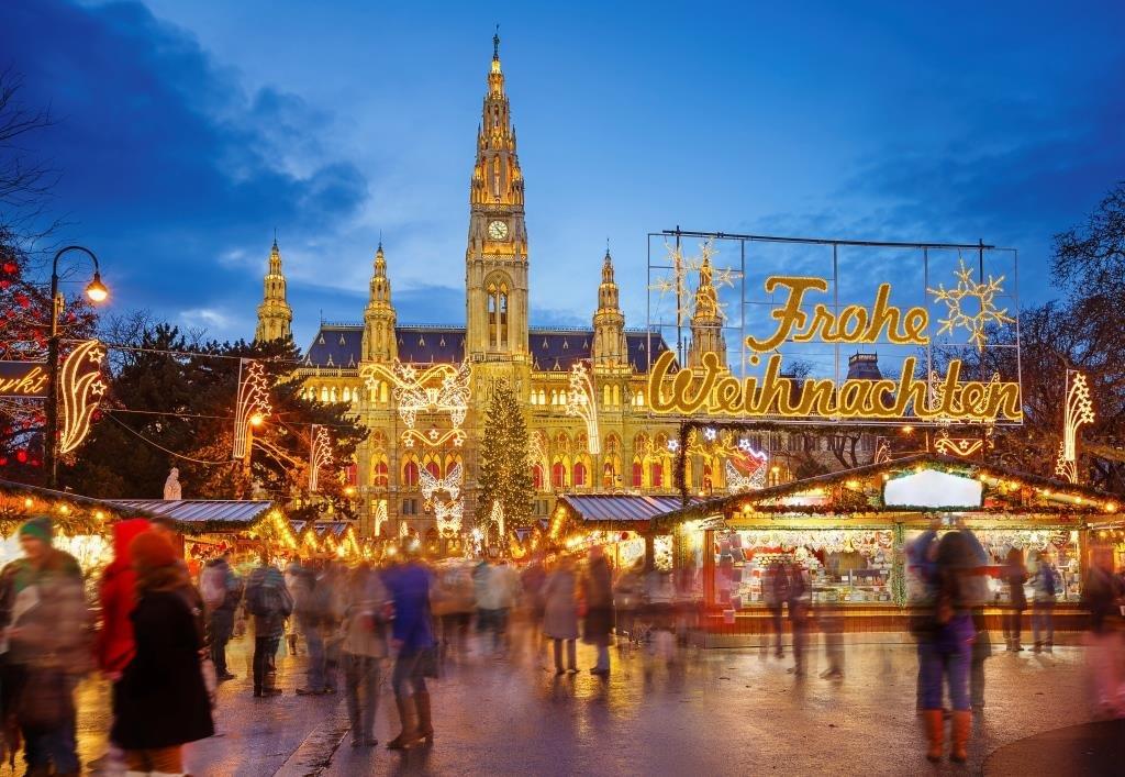 Vienna, Rhataus e il tradizionale Mercatino di Natale. Photo Credit: Getty Images