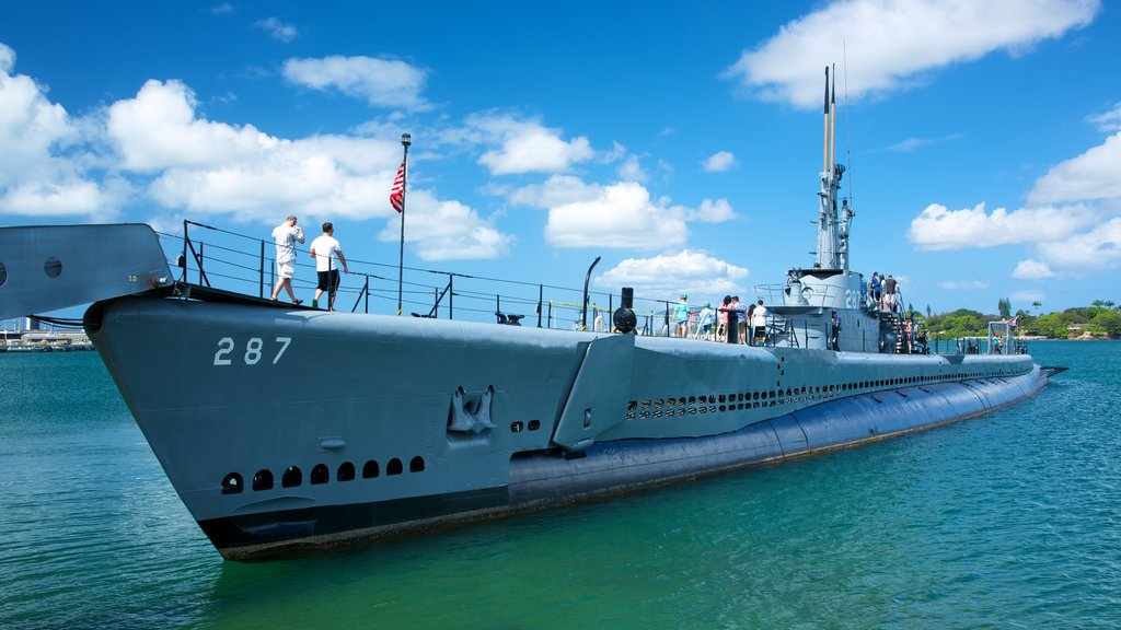 USS Bowfin Submarine Museum and Park showing a bay or harbor