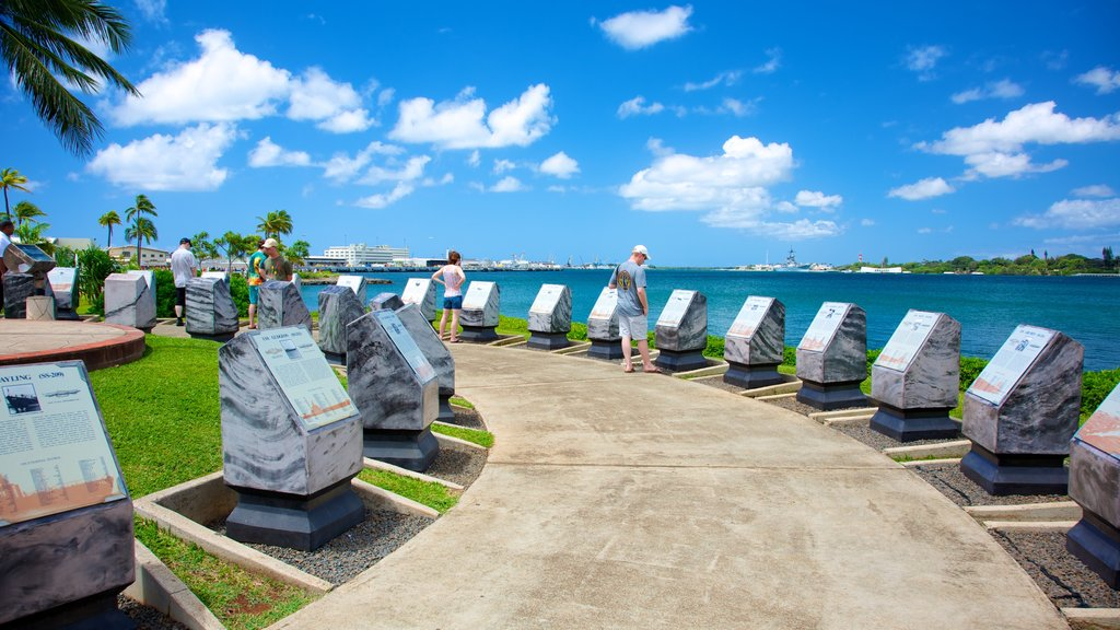 USS Bowfin Submarine Museum and Park showing general coastal views and a coastal town
