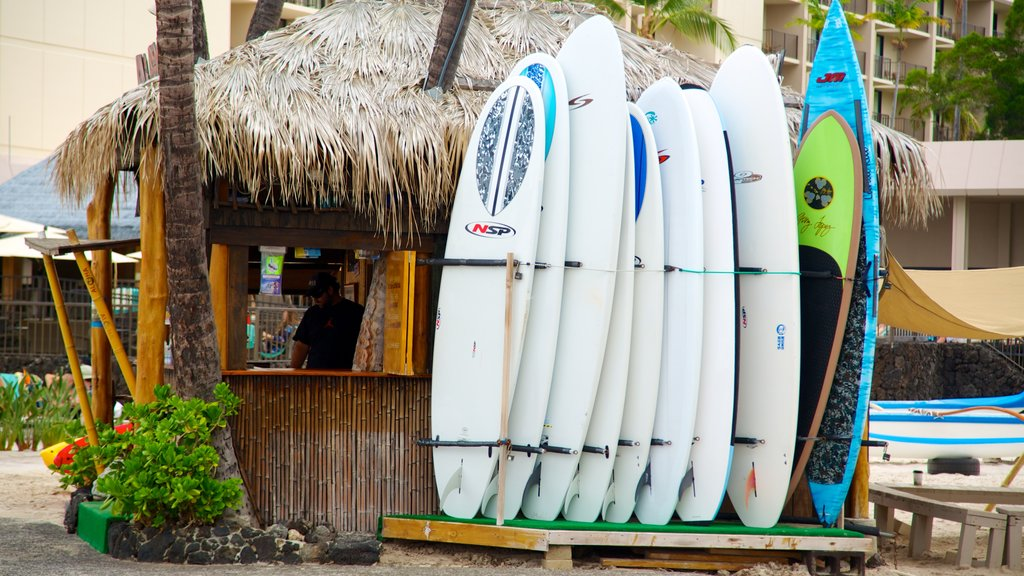 Kailua-Kona which includes surfing and tropical scenes