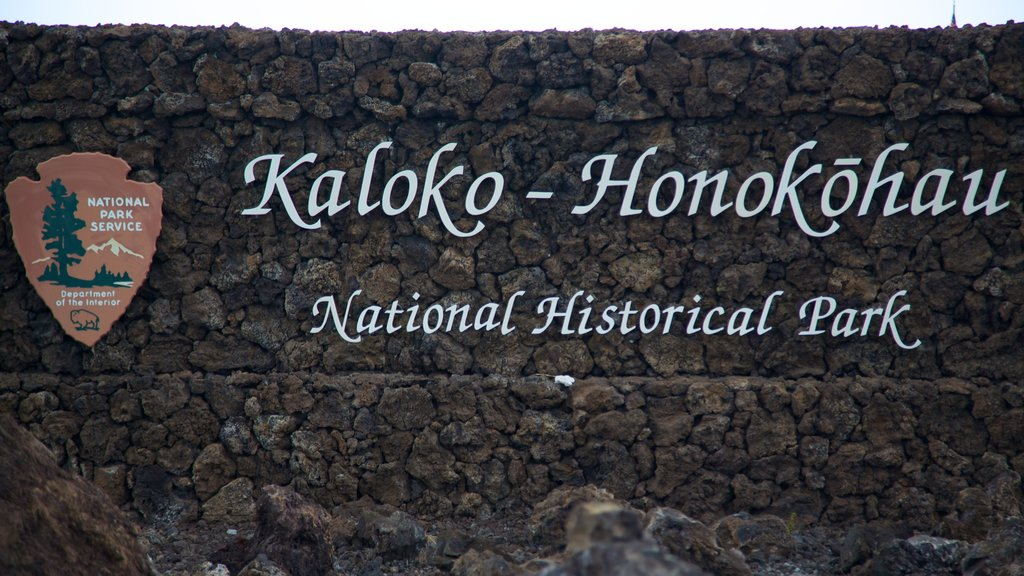 Kaloko-Honokohau National Historical Park showing signage