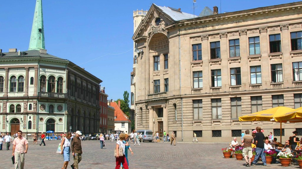 Riga which includes a city, a square or plaza and heritage architecture