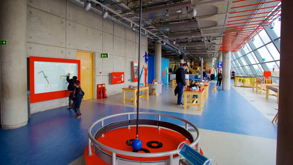 Glasgow Science Centre featuring interior views as well as children