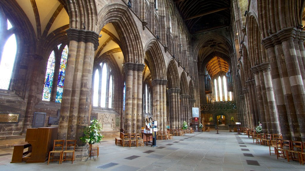 Glasgow Cathedral featuring heritage architecture, a church or cathedral and interior views