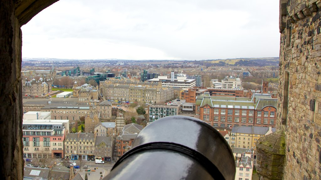 Edinburgh Castle featuring heritage architecture, chateau or palace and views