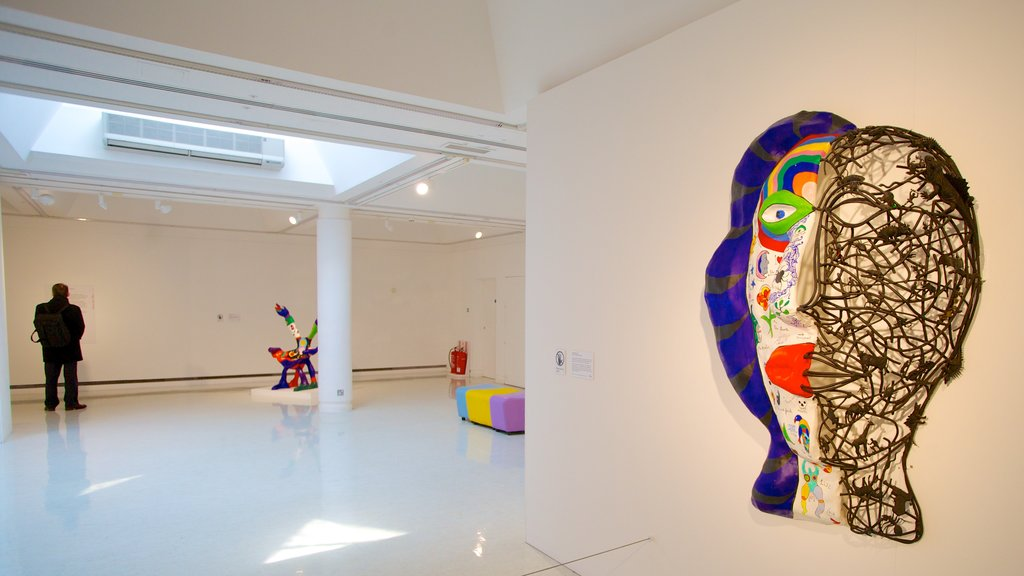 Gallery of Modern Art showing art and interior views as well as an individual male