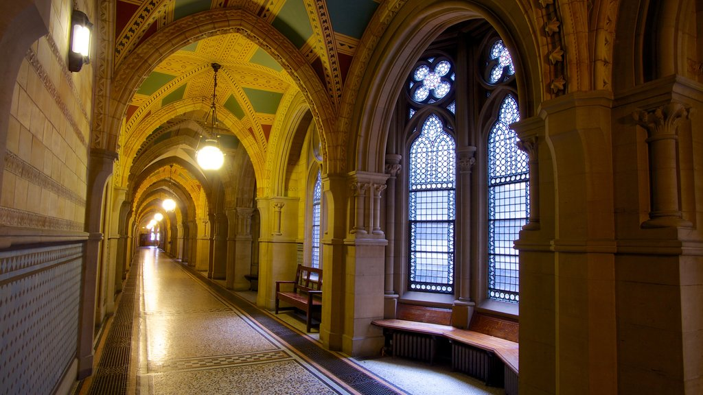 Manchester City Hall featuring heritage architecture and interior views