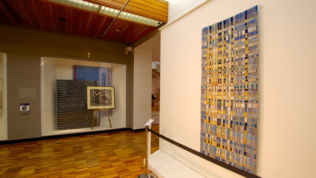 Whitworth Art Gallery showing art and interior views