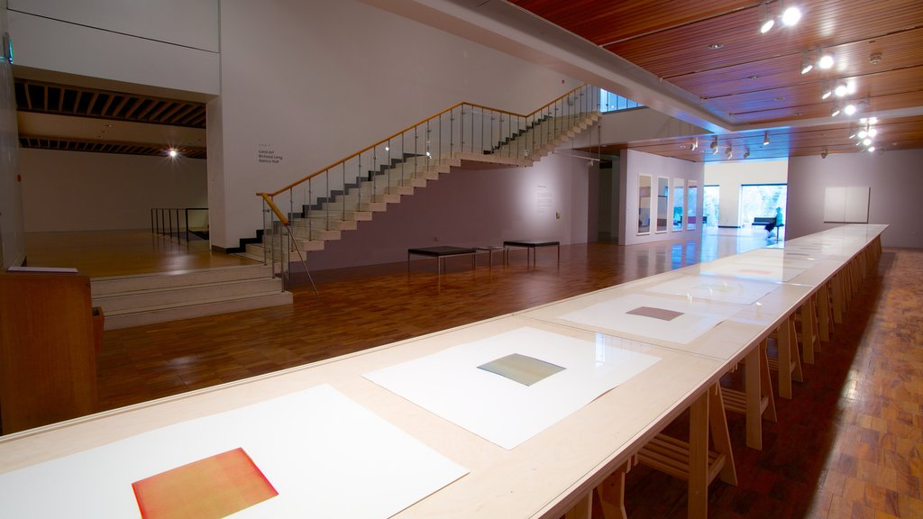 Whitworth Art Gallery showing interior views and art