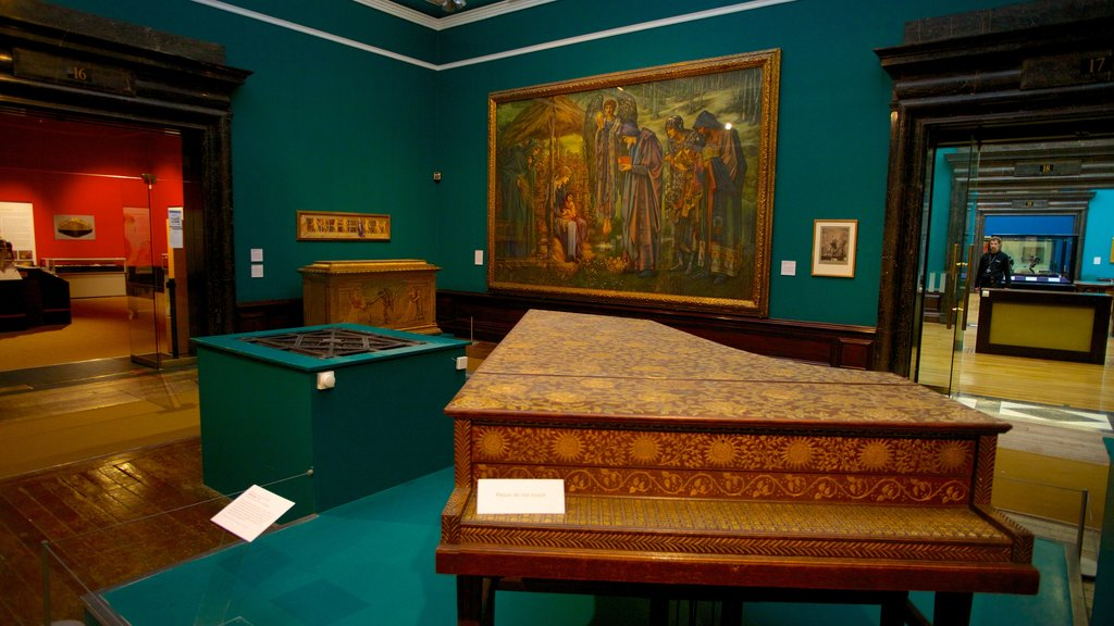 Birmingham Museum and Art Gallery featuring interior views and art