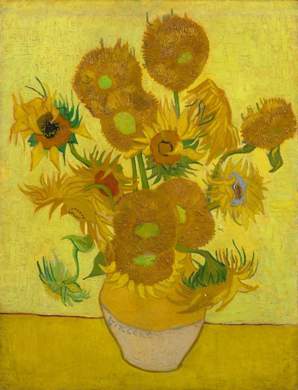 Vincent van Gogh, Girasoli, 1889. Courtesy of the Van Gogh Museum, Amsterdam