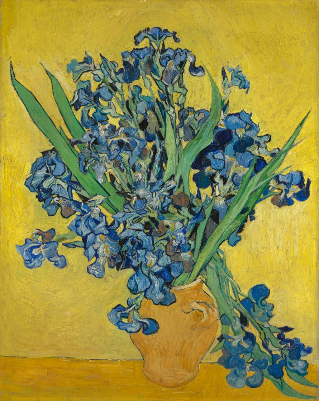 Vincent van Gogh, Vaso con Iris, 1890. Courtesy of the Van Gogh Museum, Amsterdam