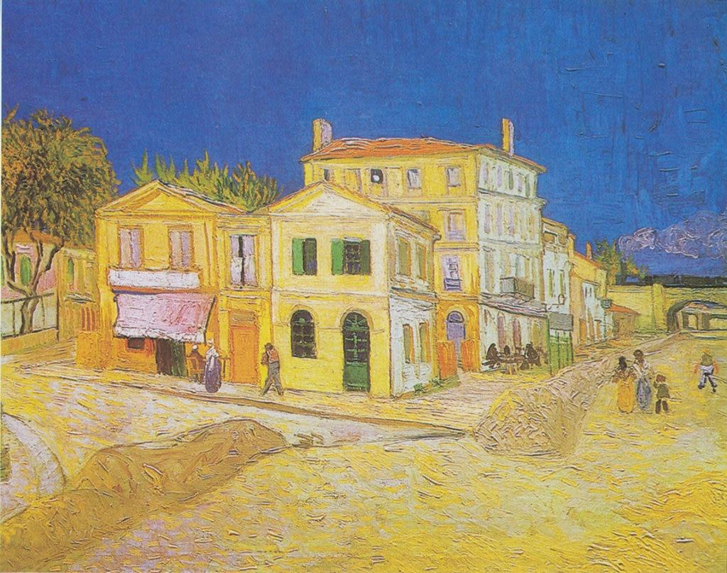 Vincent van Gogh, La casa gialla, 1888. Vincent van Gogh  , via Wikimedia Commons