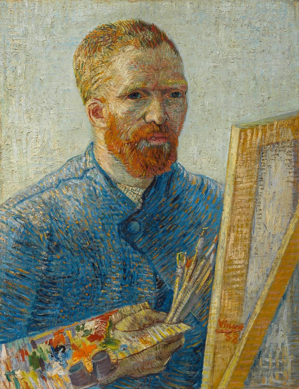 Vincent van Gogh, Autoritratto con tavola e pennelli, 1887-1888. Courtesy of the Van Gogh Museum, Amsterdam