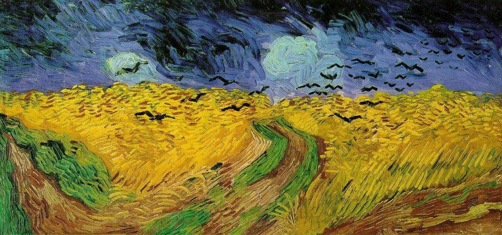 Vincent van Gogh, Campo di grano con volo di corvi, 1890. Courtesy of the Van Gogh Museum, Amsterdam