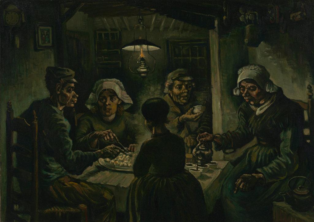Vincent van Gogh, I mangiatori di patate, 1885. Courtesy of the Van Gogh Museum, Amsterdam