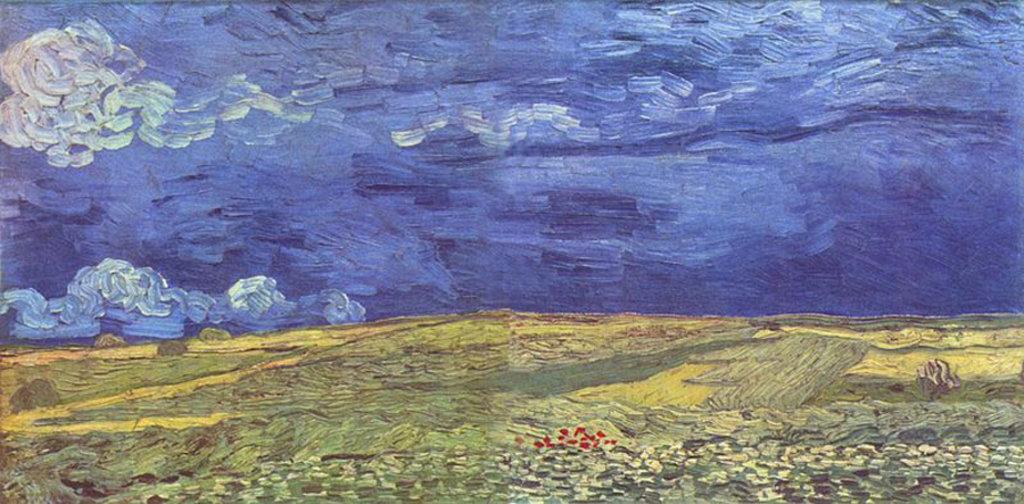 Vincent van Gogh, Campo di grano sotto un cielo nuvoloso, 1890. Courtesy of the Van Gogh Museum, Amsterdam