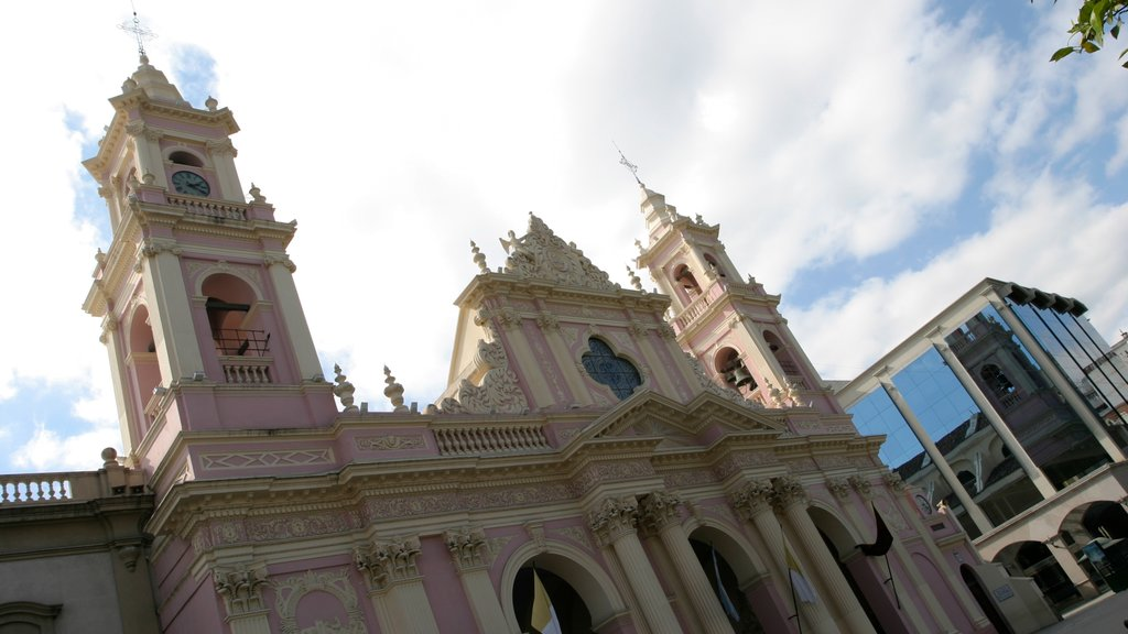 Salta which includes zoo animals, a church or cathedral and heritage architecture