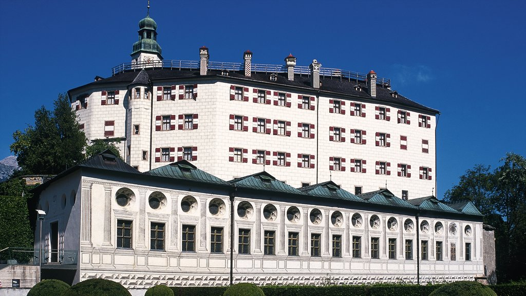 Ambras Castle featuring chateau or palace and heritage architecture