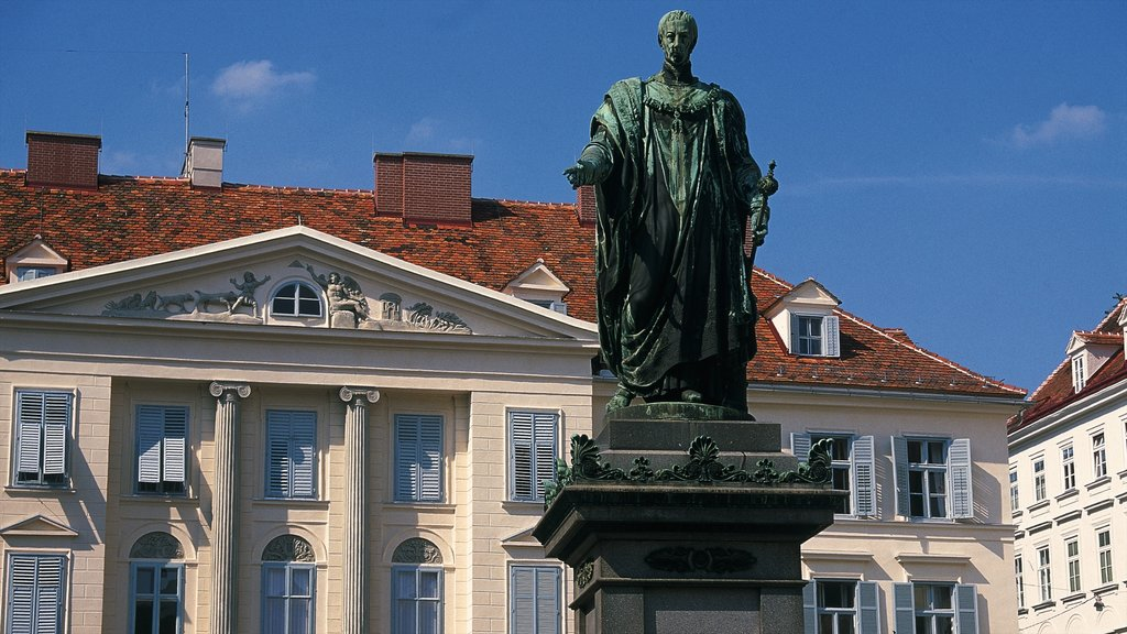 Graz featuring a monument, heritage architecture and a statue or sculpture
