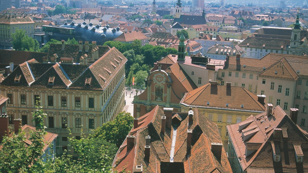 Graz which includes a city