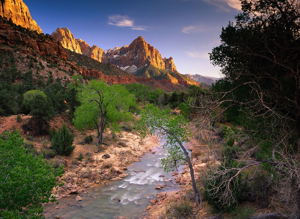 Un tratto del fiume Virgin, Zion National Park. Photo credit Getty Images
